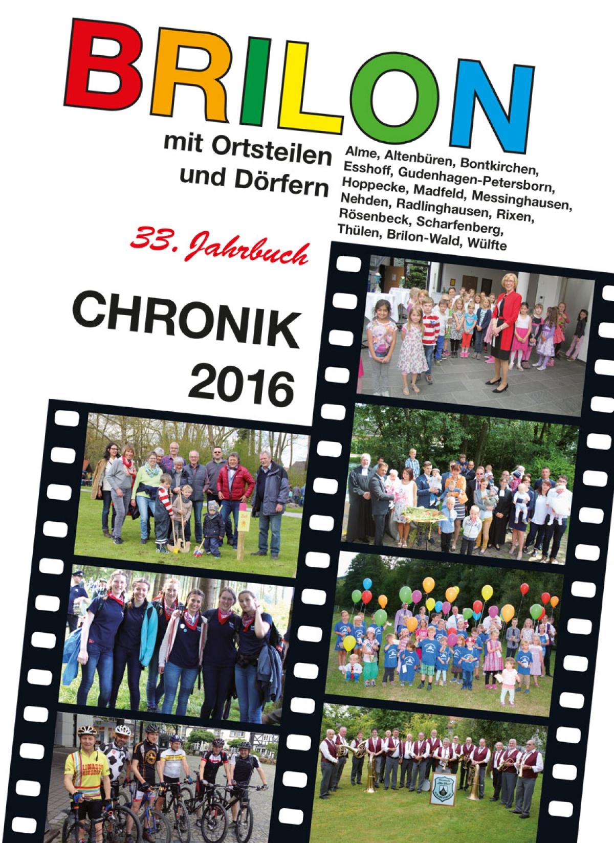 Die Briloner Chronik 2016 ist ab dem 3. Dezember erhältlich